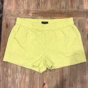 J. Crew Neon yellow shorts Sz 4